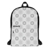 Positive vibes mandala printed backpack 3