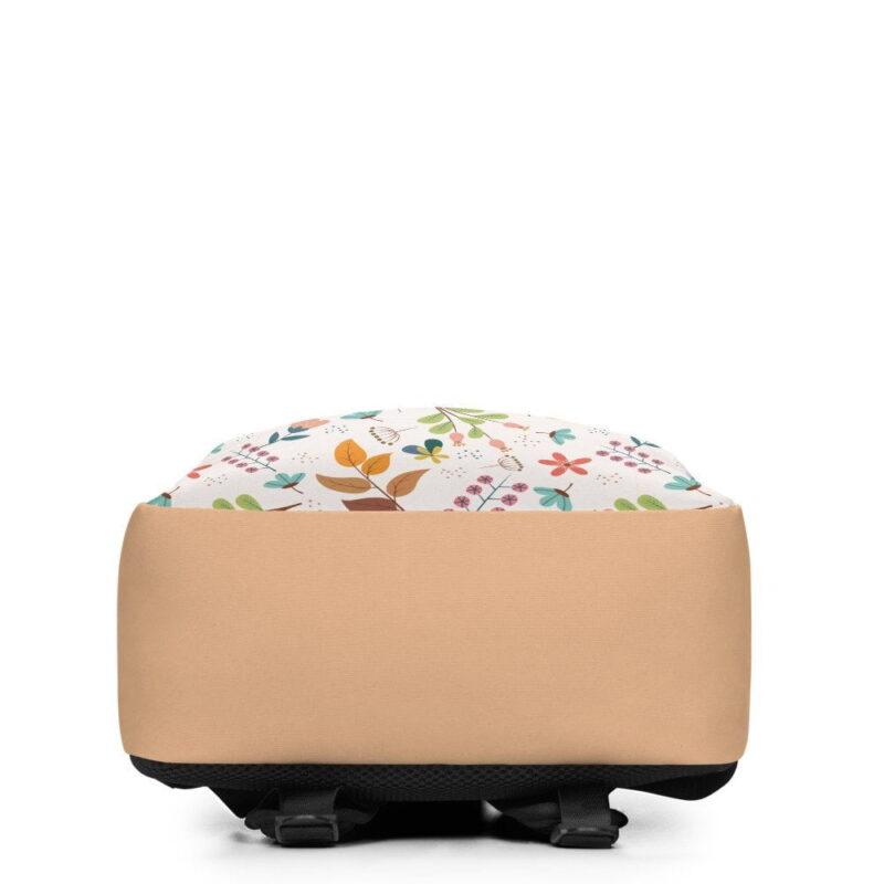 Ivory Floral Minimalist Backpack 5
