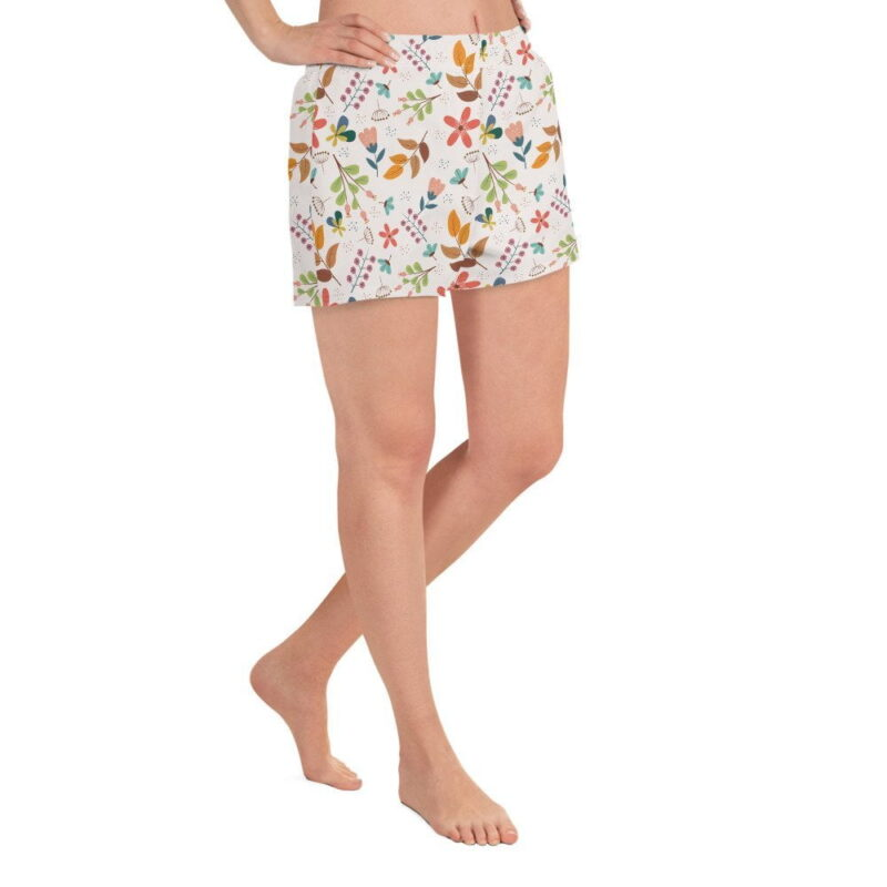 Ivory Floral Women's Shorts 2