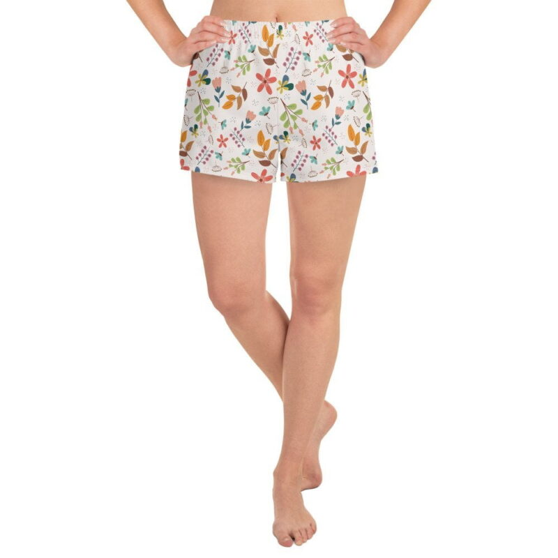 Ivory Floral Women's Shorts 1