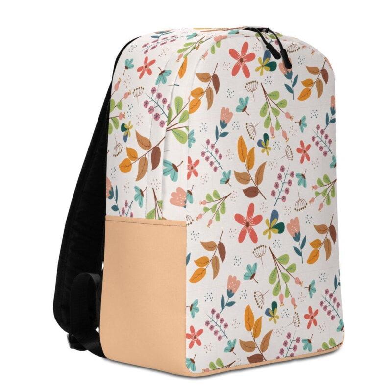 Ivory Floral Minimalist Backpack 3