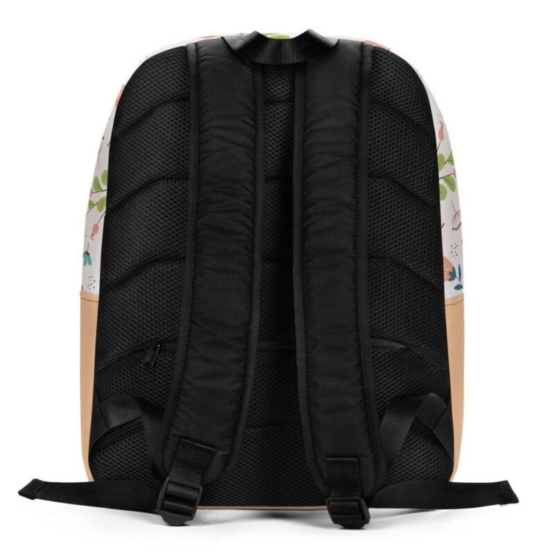 Ivory Floral Minimalist Backpack 4