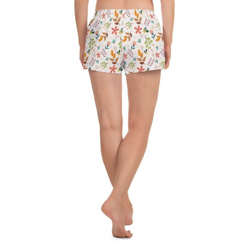 Ivory Floral Women's Shorts 4