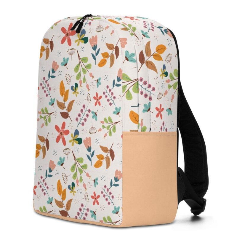 Ivory Floral Minimalist Backpack 2