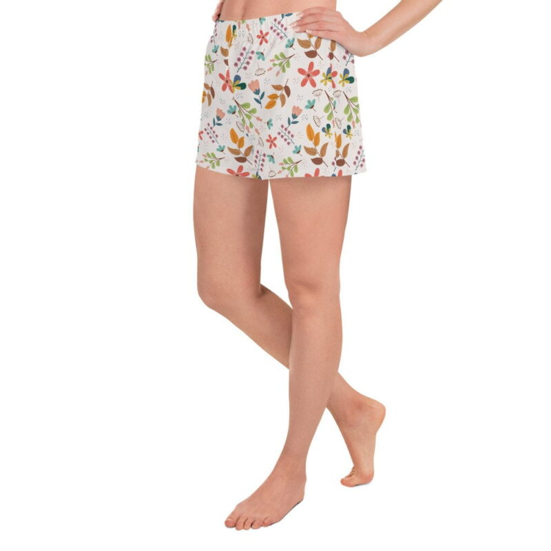 Ivory Floral Women's Shorts 3