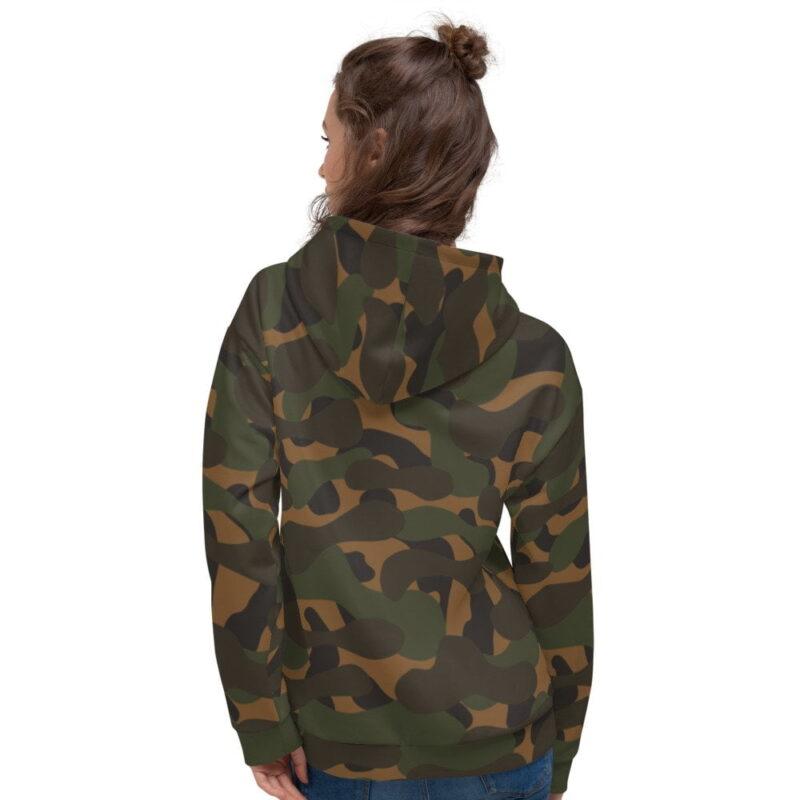 Dark Camouflage Women's Hoodie 2