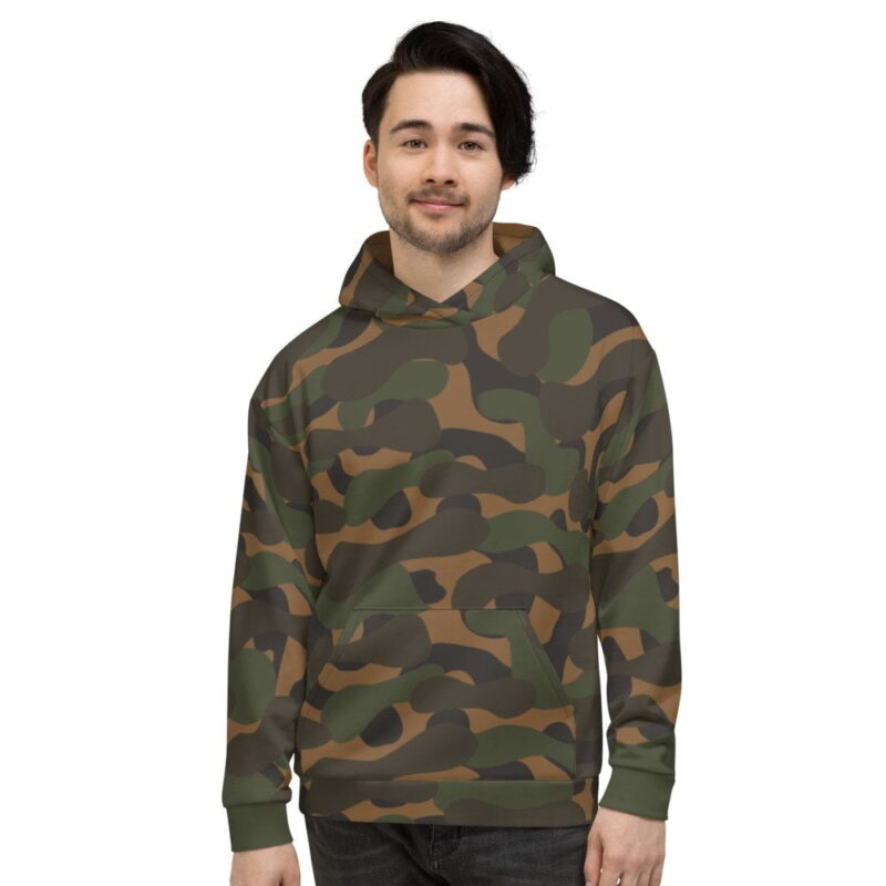 Dark Camouflage Men's Hoodie 1