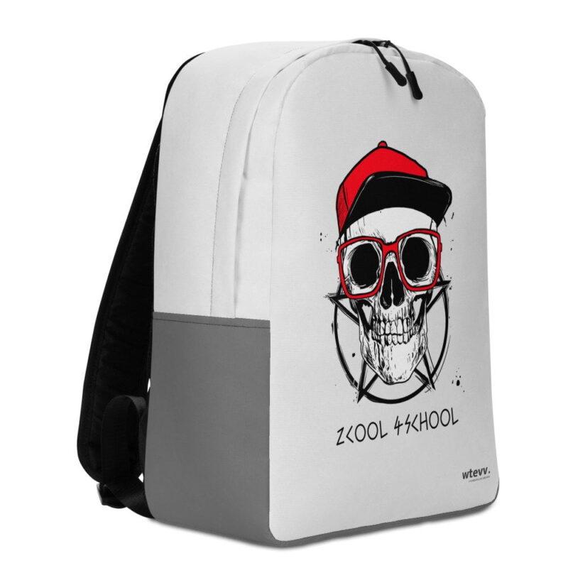 2 Cool 4 School Grey Skull Minimalist Backpack 3