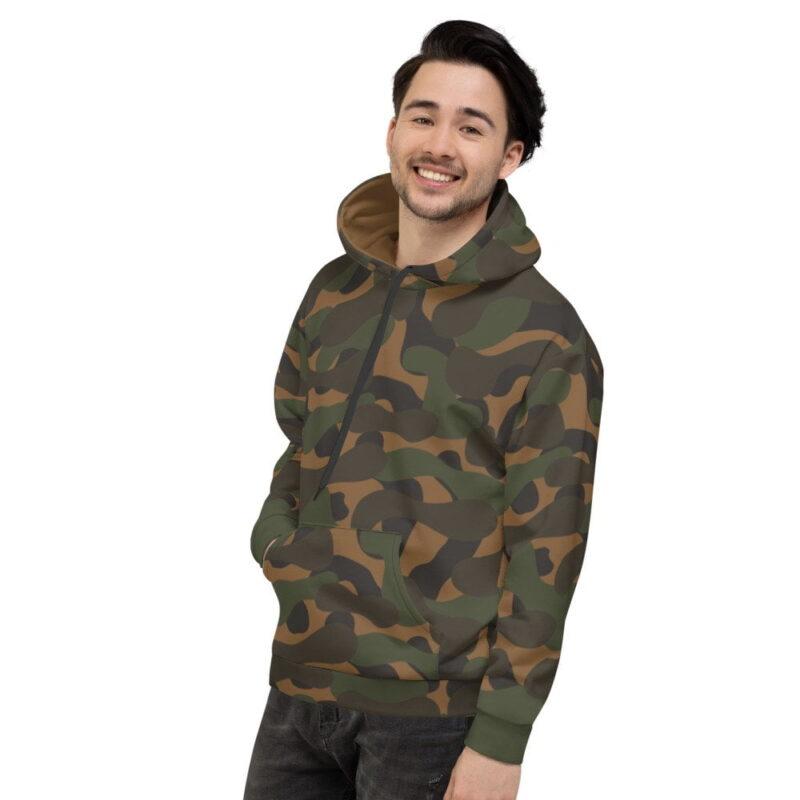 Dark Camouflage Men's Hoodie 4