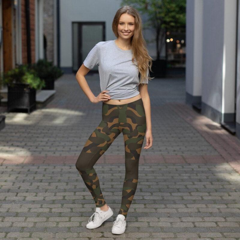 Dark Camouflage Leggings 2