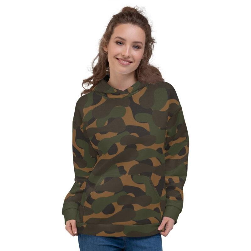Dark Camouflage Women's Hoodie 1