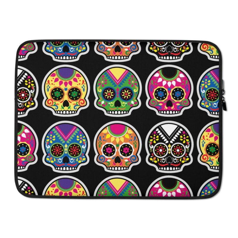 Funky Skulls Laptop Sleeve 2