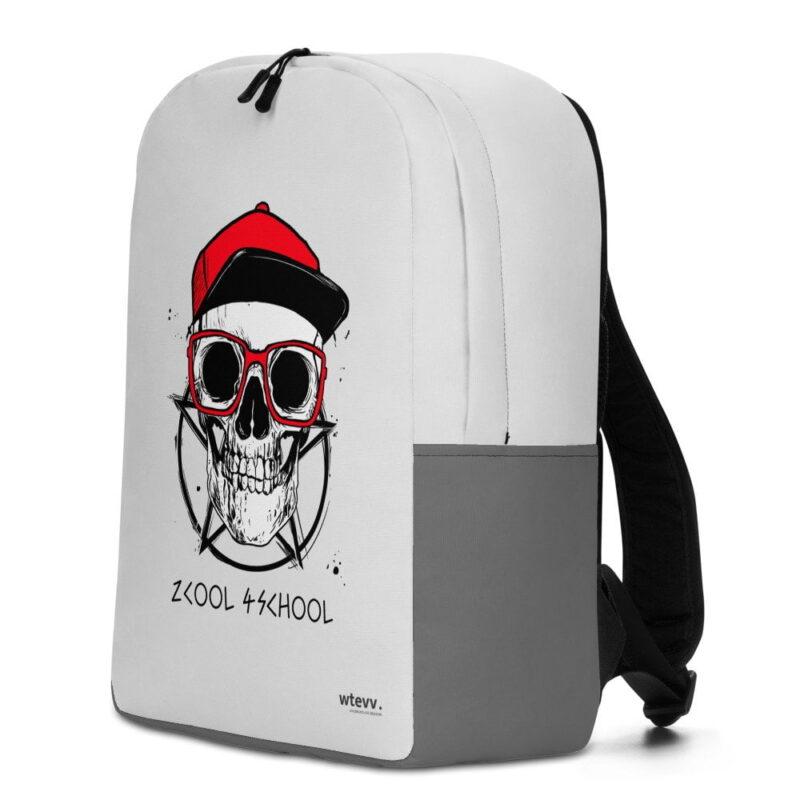 2 Cool 4 School Grey Skull Minimalist Backpack 2