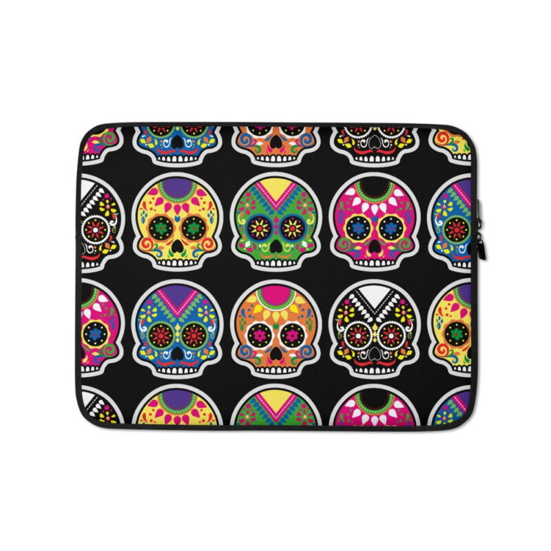 Funky Skulls Laptop Sleeve 1