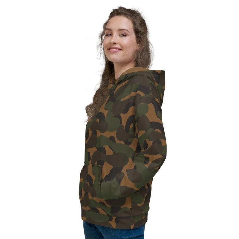 Dark Camouflage Women's Hoodie 4