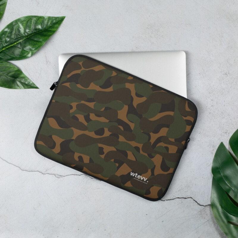 Dark Camouflage Laptop Sleeve 1