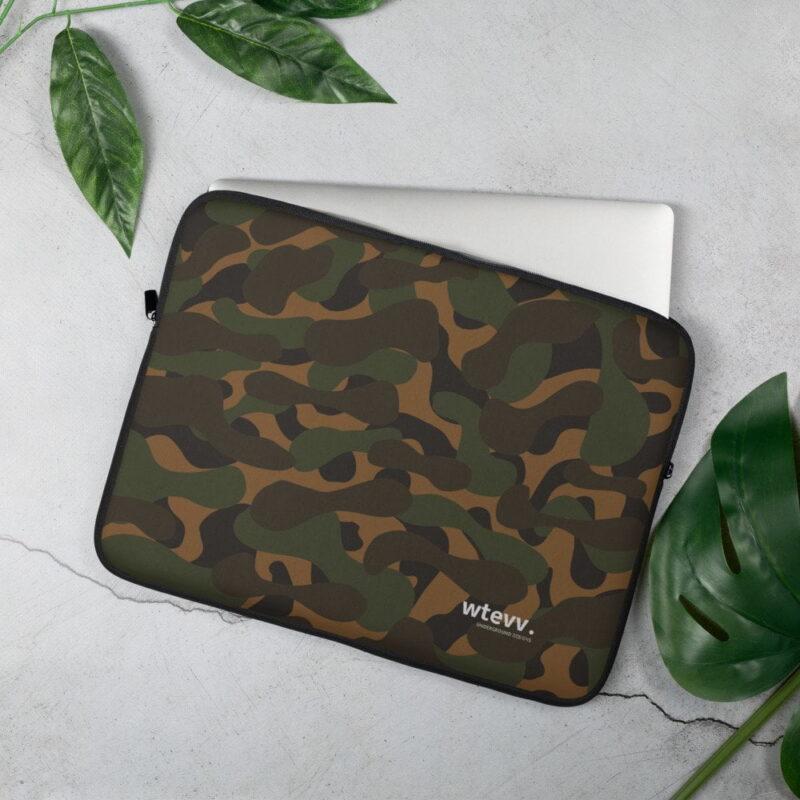 Dark Camouflage Laptop Sleeve 2