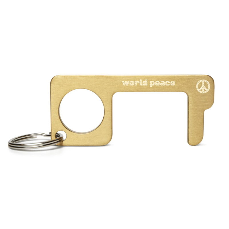 World Peace Engraved Brass Touch Tool 1