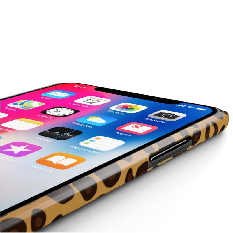 Leopard Printed Case Mate Slim iPhone Cases 4