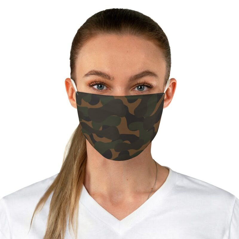 Dark Camouflage Fabric Face Mask 2