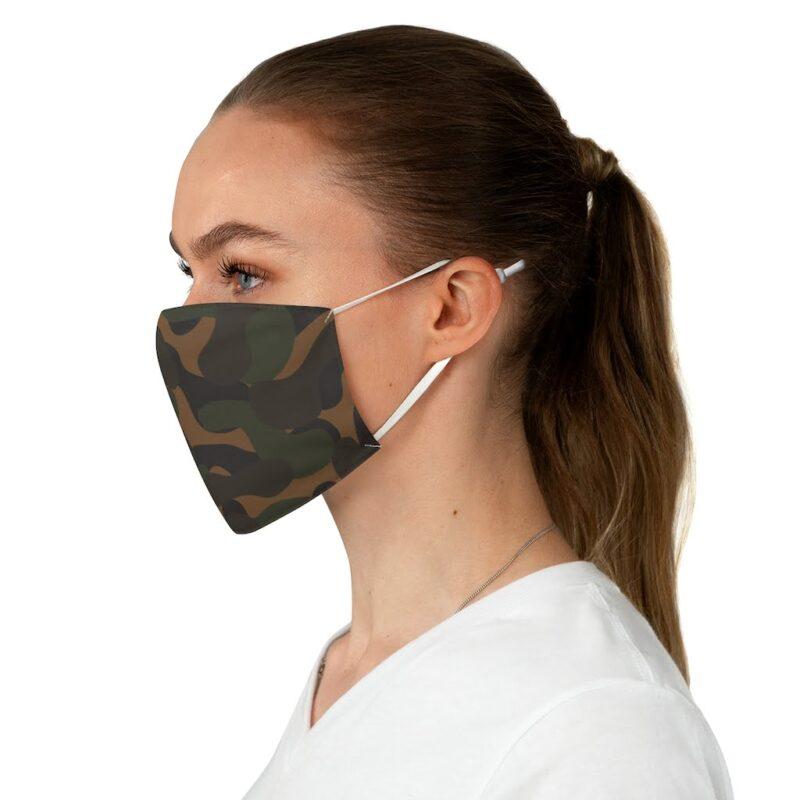 Dark Camouflage Fabric Face Mask 3