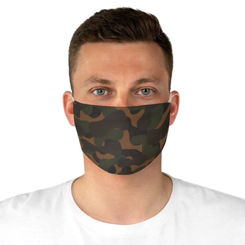 Dark Camouflage Fabric Face Mask 4