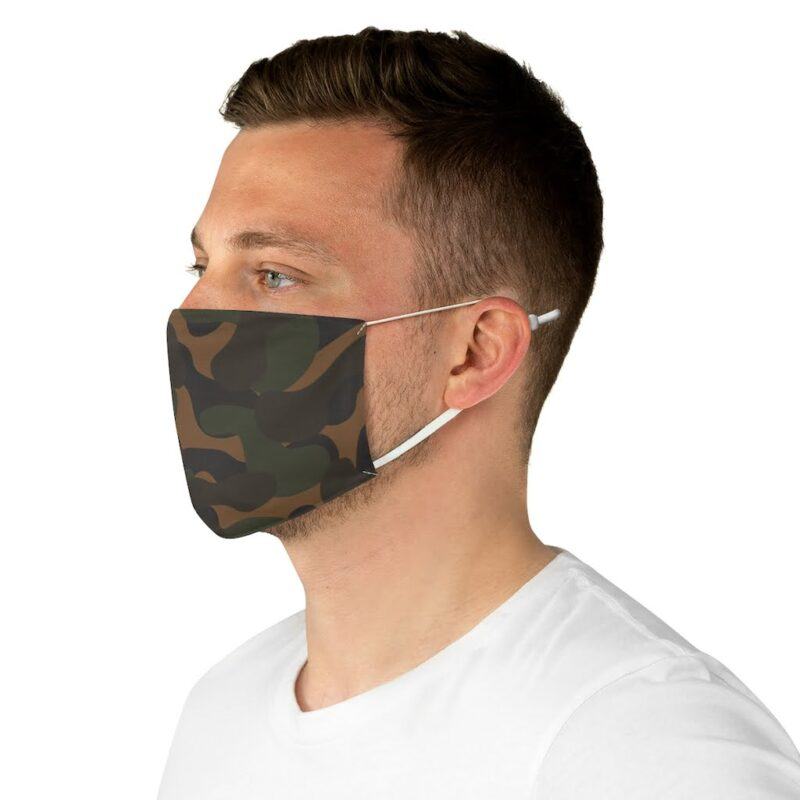 Dark Camouflage Fabric Face Mask 5