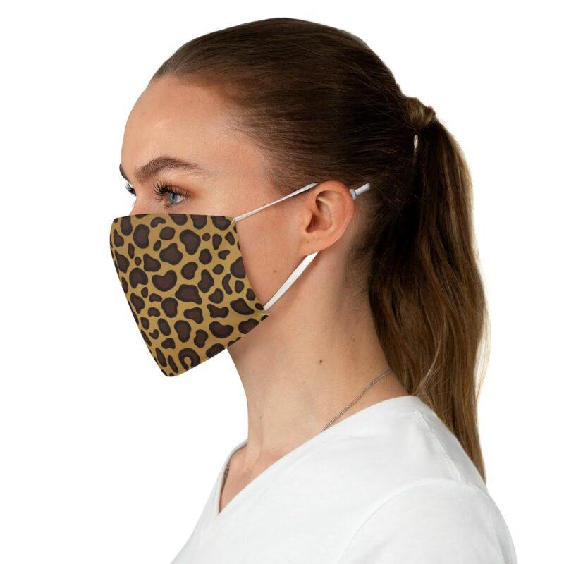 Leopard Print Fabric Face Mask 3