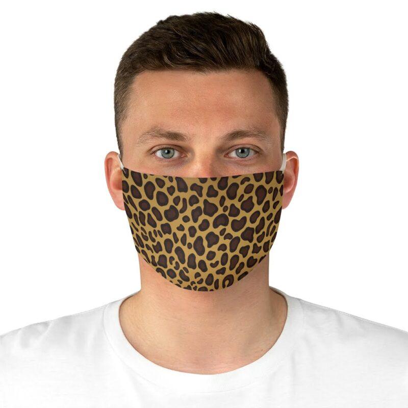 Leopard Print Fabric Face Mask 4