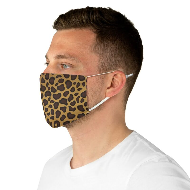 Leopard Print Fabric Face Mask 5