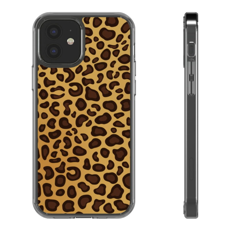 Leopard Printed iPhone 12 And iPhone 12 Pro Clear Cases 3