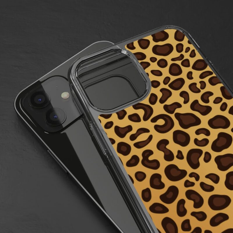 Leopard Printed iPhone 12 And iPhone 12 Pro Clear Cases 4