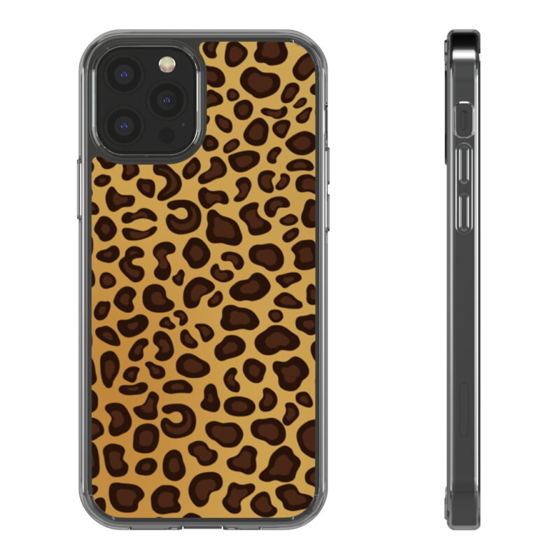 Leopard Printed iPhone 12 And iPhone 12 Pro Clear Cases 1
