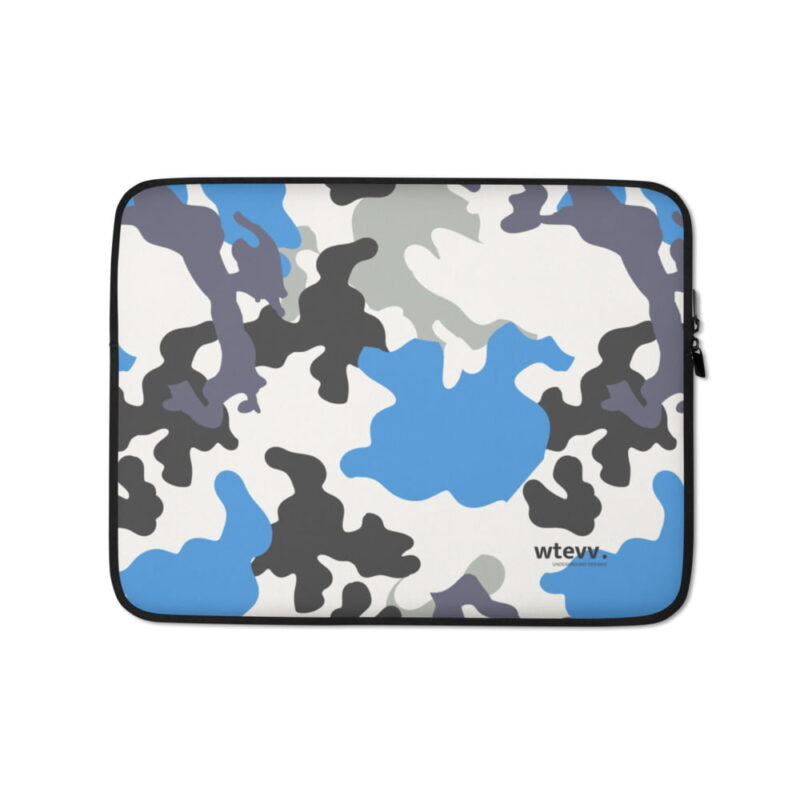 Blue Camouflage Laptop Sleeve 1