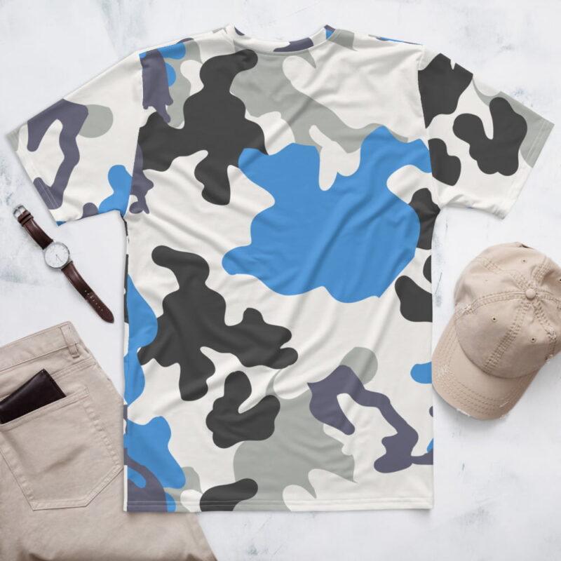 Blue Camouflage Men's T-shirt 2