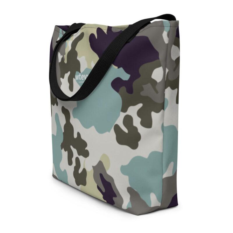 Sea Green Camouflage Beach Bag 1