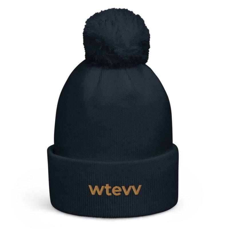WTEVV Logo Pom Pom Beanie 4