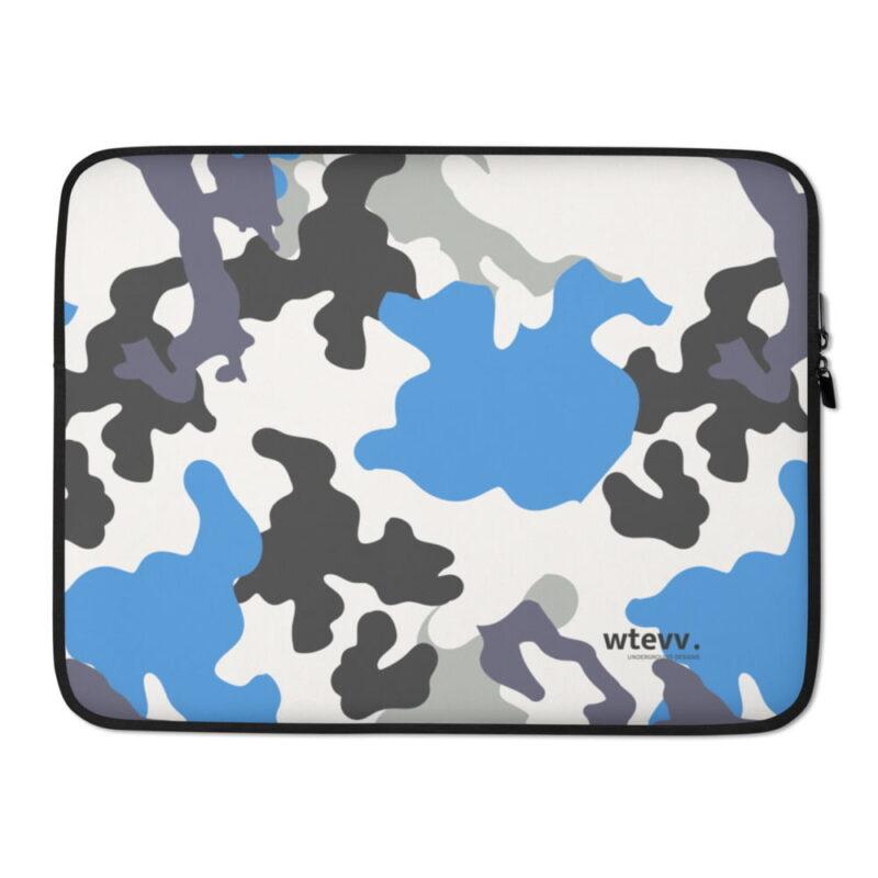 Blue Camouflage Laptop Sleeve 2