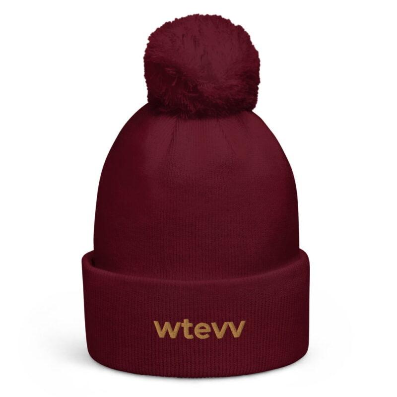 WTEVV Logo Pom Pom Beanie 3