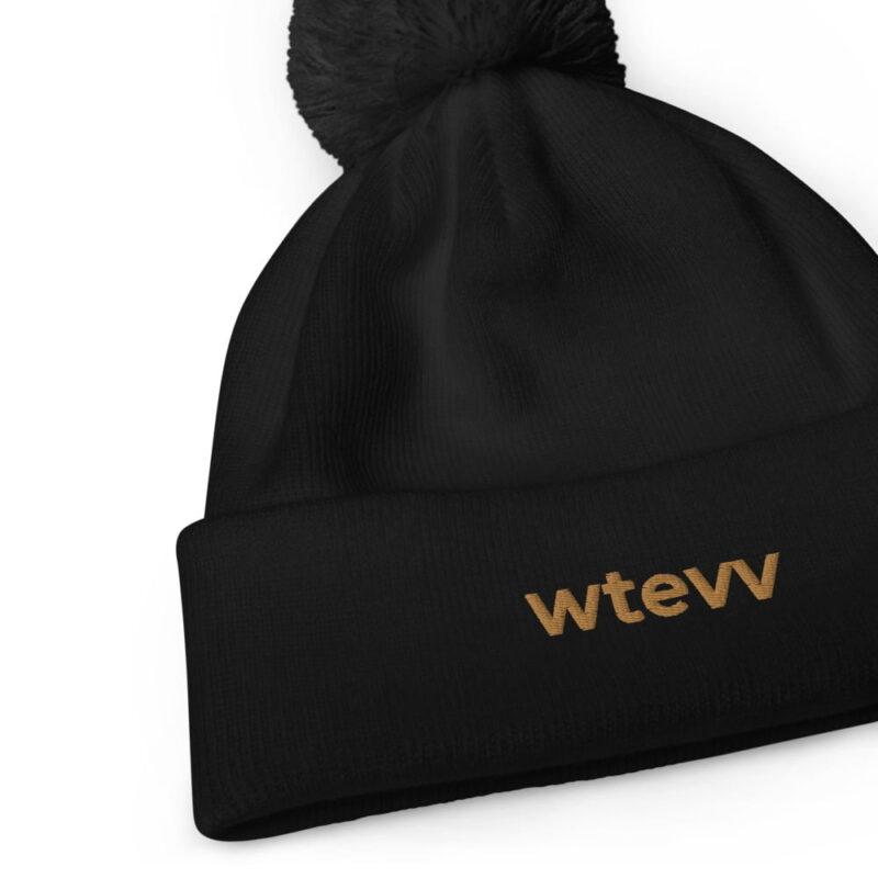 WTEVV Logo Pom Pom Beanie 2
