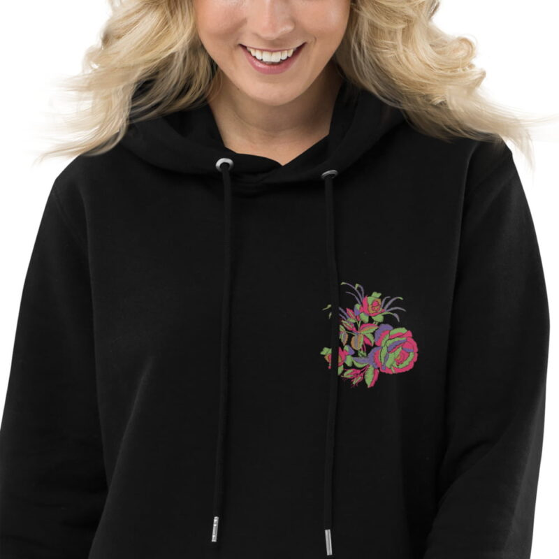 Floral Embroidery Motifs Hoodie dress 4