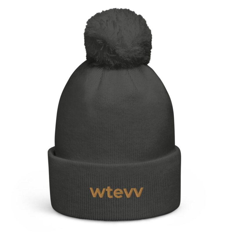 WTEVV Logo Pom Pom Beanie 5