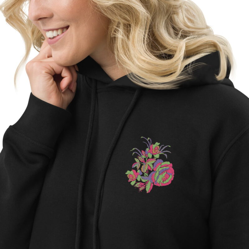 Floral Embroidery Motifs Hoodie dress 5