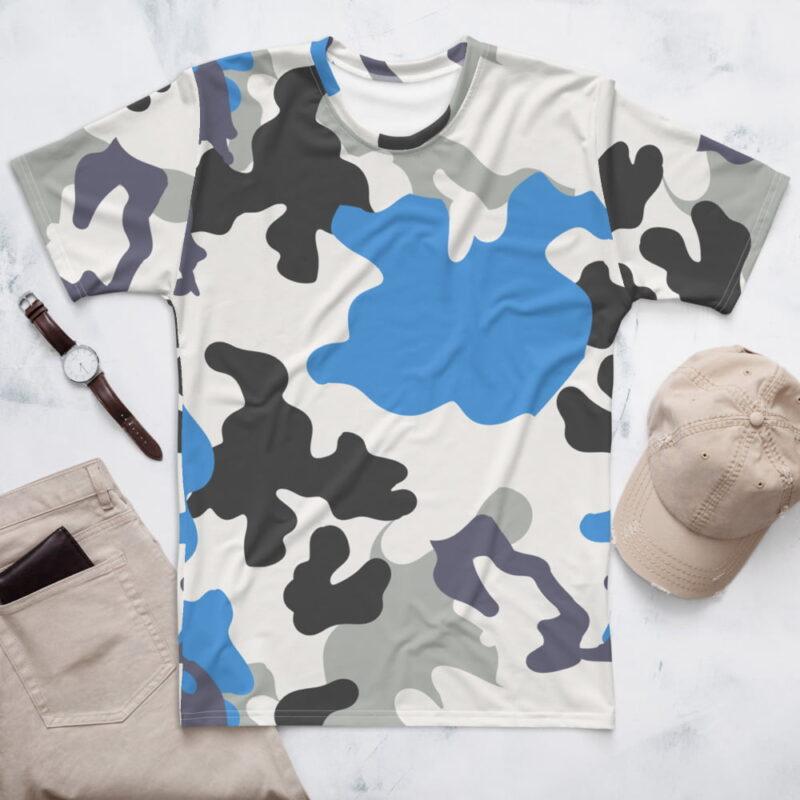 Blue Camouflage Men's T-shirt 1