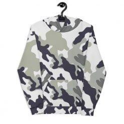 Grey Camouflage Unisex Hoodie
