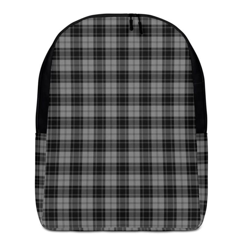 Grey Check Minimalist Backpack 1