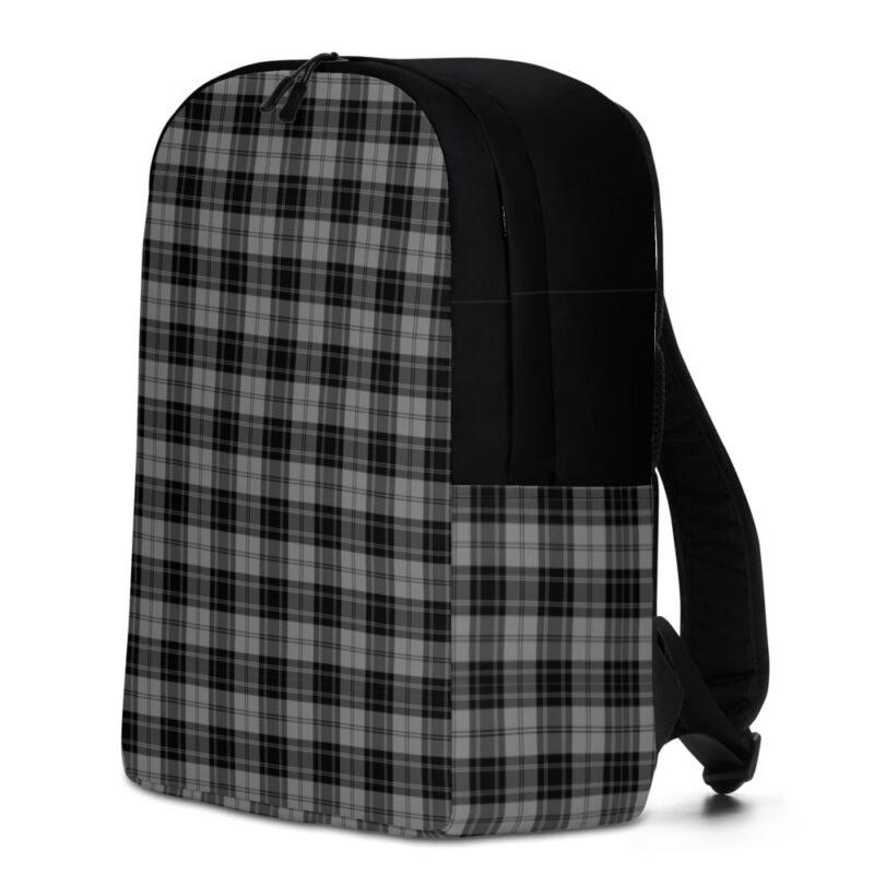 Grey Check Minimalist Backpack 2