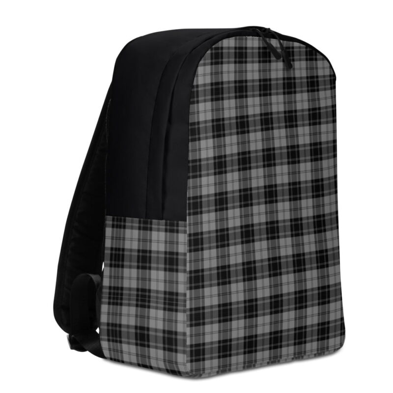 Grey Check Minimalist Backpack 3