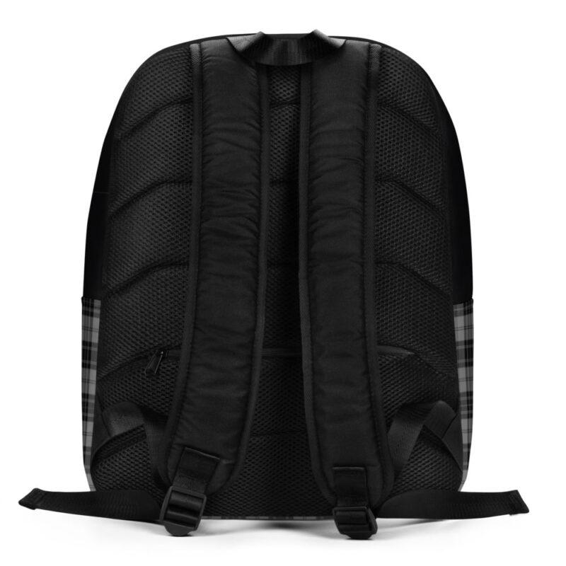 Grey Check Minimalist Backpack 4