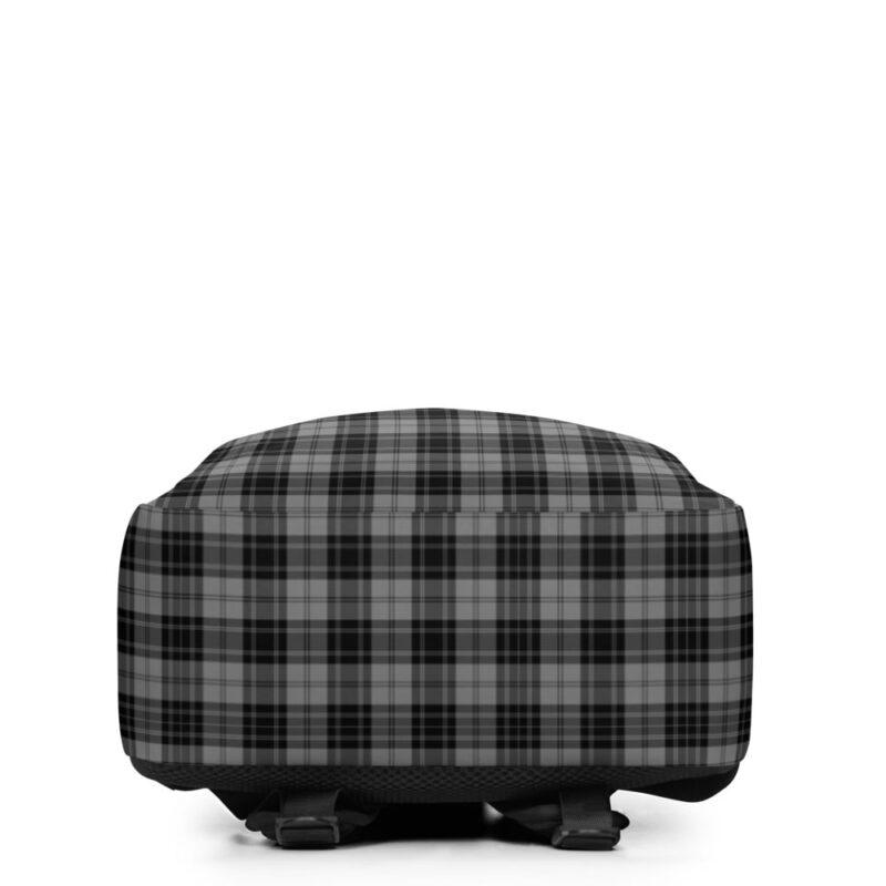 Grey Check Minimalist Backpack 5